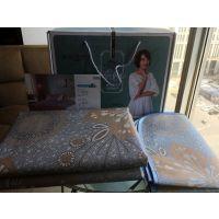 西安金丝莉薄荷冰丝席凉席三件套双人席 床上用品纯棉被罩床单礼盒做字