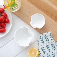 简约创意陶瓷小吃碟 甜品坚果小吃酱料陶瓷碟餐具 支持logo定制