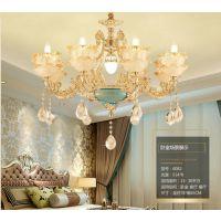 海纳百川水晶客厅灯杭州市玉石吊灯尺寸 全铜花形吊灯