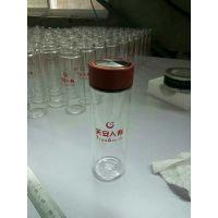 双层玻璃杯定做厂家,广告杯定制LOGO刻印山东鑫泉玻璃制品