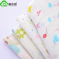 锦兰纺纱布吸水透气纯棉10884印花双层纱布面料全棉母婴用品布料批发