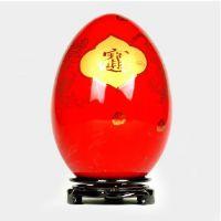 中国红陶瓷花瓶摆件现代简约风装饰摆件