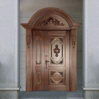 远洋辉铜门 不锈钢镀铜门 铜防盗门 北京地区免费测量安装
