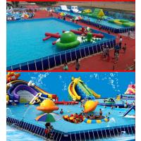 水上游乐园投资预算 支架泳池框架式游泳池 移动水上乐园游乐设备