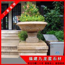 供应石雕花盆 园林工艺品摆件 福建惠安石雕厂家
