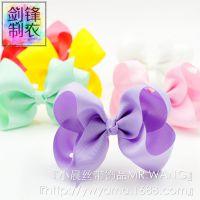 小晨丝带eBay速卖通热销外贸翘翘花批发欧美儿童发饰大蝴蝶结发夹