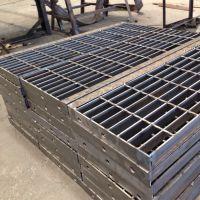 出售大量镀锌防滑钢格板 方型孔楼梯踏步板 平台专用 支持定做