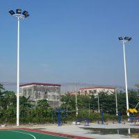 江门市五人制足球场灯光布置 足球场灯杆设计造价 篮球场高杆灯led
