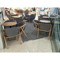 忻州市实木桌椅,简约现代西餐厅咖啡厅面馆餐桌椅