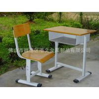 厂家自产自销课桌|金属学生单人桌椅|可升降课桌椅中学生|辅导班用课桌椅