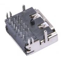 HDMI高清接口母座 A型 19Pin 三排插针90度 两脚鱼叉四脚插板DIP PCB-创粤