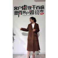 时尚高端品牌 欧莎玛卡 苏力羊驼毛大衣17冬装 品牌折扣女装批发一手货源