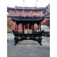 温州苍鸿工艺铸造黄铜长方形香炉 大型寺庙户外铸铜香炉
