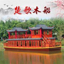 供应吉林双层铁质餐饮画舫船 水上餐厅餐馆船 景区河道特色餐饮船 用来吃饭的船