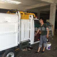 市政工程专用保洁车 物业适用四轮电动垃圾运输车 拓锐电动挂桶自卸垃圾清运车1