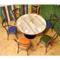 倍斯特定制美式乡村主题湘菜中餐厅火锅店餐桌复古工业风圆桌