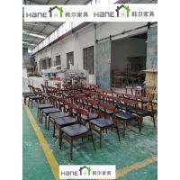 上海复星集团餐厅实木桌椅 北欧桌子椅子定做