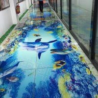 大型平板彩绘设备uv打印机理光背景墙打印机