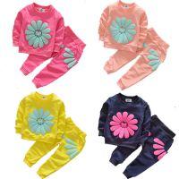 一件代发2018秋春新款童套装 女童长袖套装儿童2件套