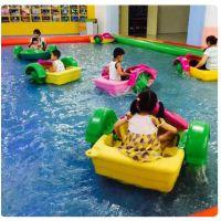 双人母子船手动游乐玩具 休闲水上手摇船价位 商场公园广场手摇船玩具