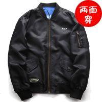 跨境亚马逊wish厂家直供 欧美秋季新款夹克大码飞行服空军速卖通外套