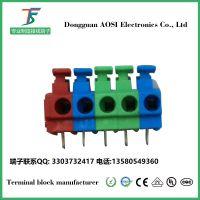 免螺丝接线端子KF124B-5.0间距颜色可选pcb上弹簧式端子台/接线柱澳斯