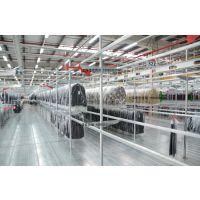 上海诺宏定制圆管服装货架,用于仓库服装挂衣存储
