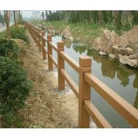 预制水泥仿木河堤护栏,耐腐蚀,观赏性强