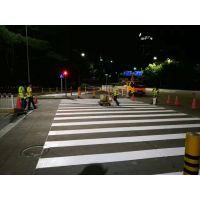 江西交通道路热熔旧线翻新覆盖画线施工单位、热熔材料反光节能环保