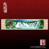 青花山水瓷板画 陶瓷山水瓷版画