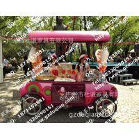 香港棒棒糖售货亭方案设计产品图  广州棒棒糖促销车 美式售卖车