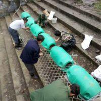 拦污浮排塑料桶 通海县水电站塑料拦污浮筒