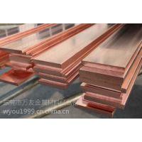 洛阳洛铜10*120mm接地紫铜排T2国标圆角紫铜排批发 可切割零售
