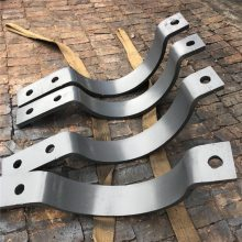 供应双螺栓管夹 U型抱箍20A 碳钢镀锌沧州齐鑫标准制作