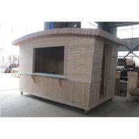 工厂专业生产户外防腐木售货亭 售货车 木质移动售卖车
