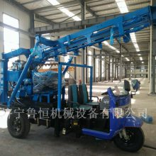 HW-160S三轮车载液压水井钻机 移动方便的农用打井机 鲁恒回转式钻机