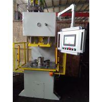 TGM全自动数控数显PLC自动检测液压机单柱台式液压机自动生成压力曲线