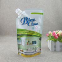 日化吸嘴袋生产厂家 500G洗衣液自立袋 洗手液补充包装袋