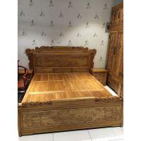 实木双人床 婚床大床 河北老榆木双人床生产厂家