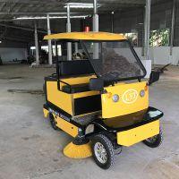 物业清扫扫地车封闭扫地式车商用驾驶式扫地机