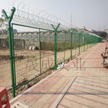 焊接金属隔离栅 钢丝网护栏 铁丝护栏生产安装 浸塑绿化带防爬网