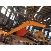 卡特挖掘机加长臂厂家制作 拆楼深坑打桩 可定做二段、三段和四段式固定滑移和伸缩功能强大
