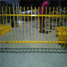双横栏锌钢护栏网 公园围墙防护网 喷塑方管围栏