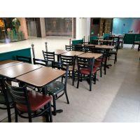 晋中市快餐桌椅,简约现代快餐厅铁艺桌椅定制厂家