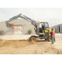 全新皮轮挖掘机 金鼎立75小型挖土机