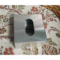 正方形台面抽纸盒 304不锈钢面巾纸箱 饭店餐厅桌面餐巾纸器包邮
