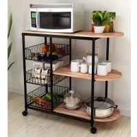 厨房置物架铁艺置物架生产厂家订制加工置物架