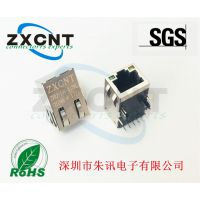 ZXRJ-198-31TNL深圳朱讯电子RJ45百兆带POE功能网口插座,10P10C以太网反口接插