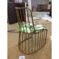 玫瑰金金属椅子,铁艺椅子,高档金属椅子,餐厅桌椅,深圳市行一家具,CY009