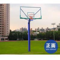 广西柳州市地埋固定式篮球架-(圆管220型号)飞跃体育厂家